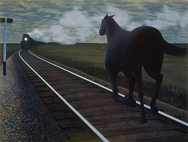 Horse and Train Alex Colville