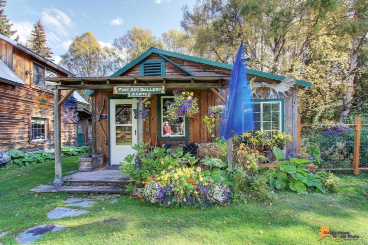 antique log cabin for sale in Alaska