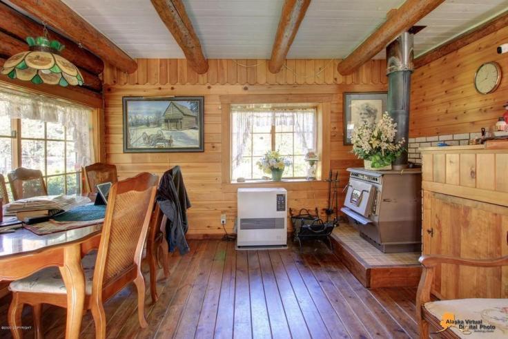 historic log cabin for sale in Alaska
