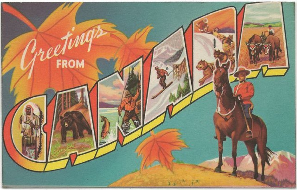 vintage Canadian post card