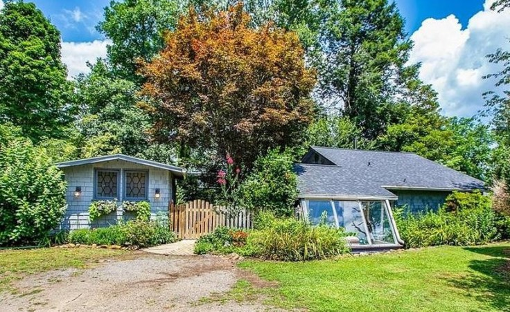 blue cottage for sale in Blue Ridge Mountains