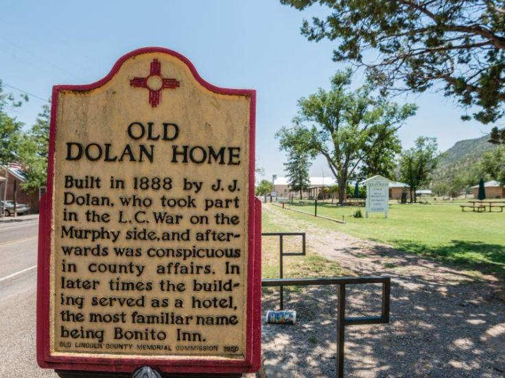 The historic Dolan house in New Mexico