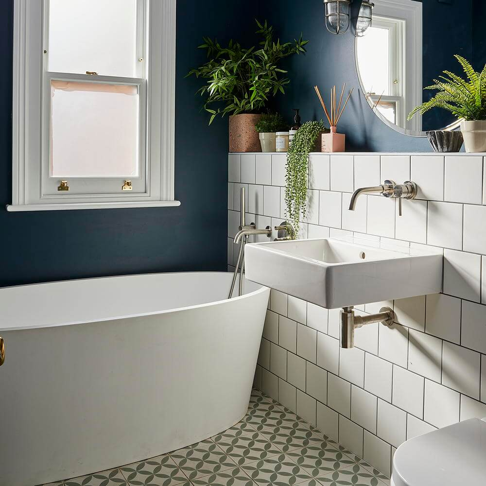 11 Small Bathroom Tile Ideas That'll Liven Up Your ... on Small Space Small Bathroom Ideas With Shower id=56993