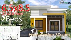 Small House Design 6.5x8.5 meter 22x28 Feet