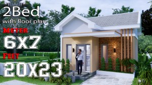 Small House Design 6x7M 20x23F Gable Roof
