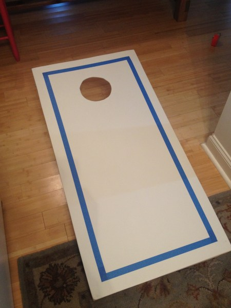 Painting Cornhole Boards || House. Food. Baby.