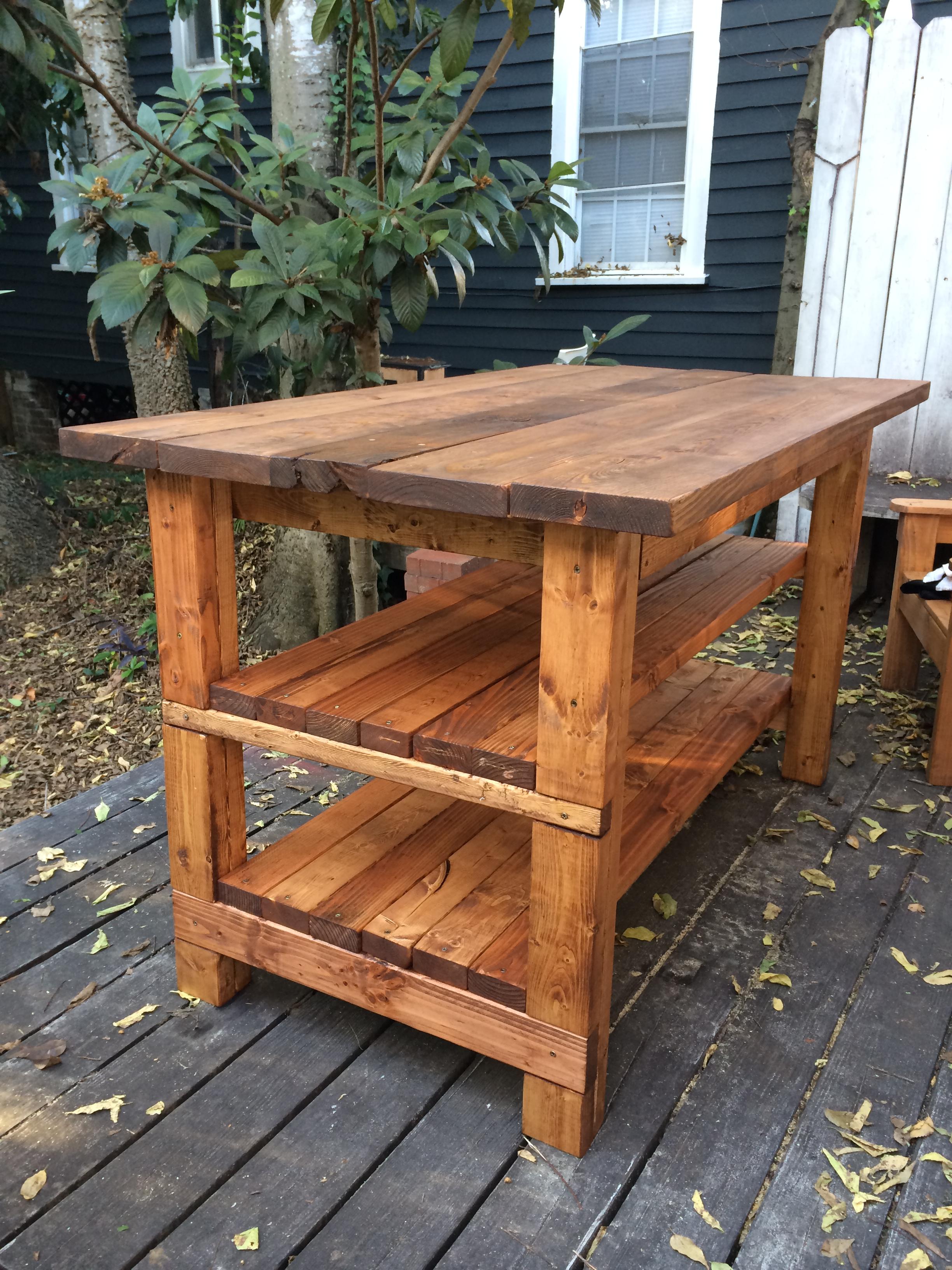 Hand Built Rustic Kitchen Island