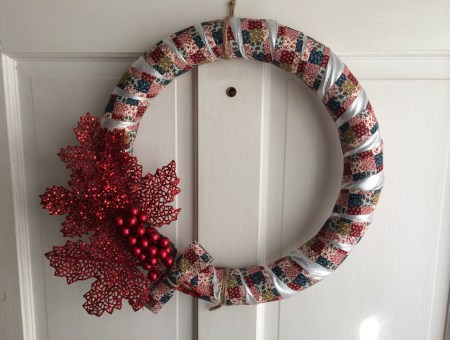 Holiday Scrap Ribbon Wreathe || House. Food. Baby.
