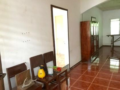 To the left of the main door is the Master's bedroom