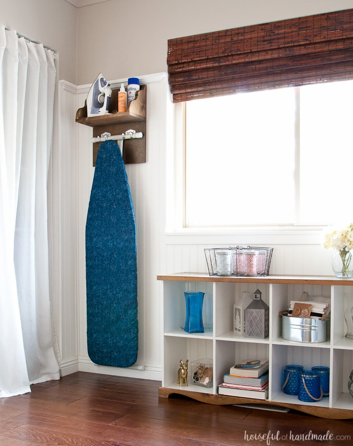 DIY Iron Holder with Ironing Board Storage - Page 2 of 2 ... on Iron Stand Ideas  id=99154