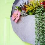 Easy Succulent Wall Planter Craft Houseful Of Handmade