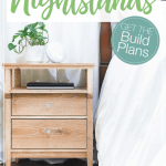 Diy Tall Nightstand Build Plans Houseful Of Handmade