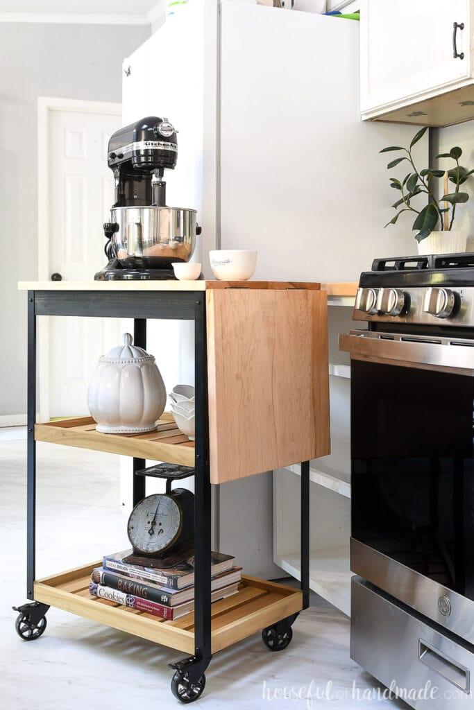 modern rolling kitchen cart build plans