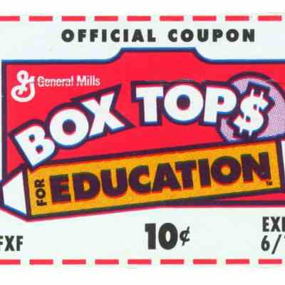 Box Tops For Education Submission Deadline! March 1st