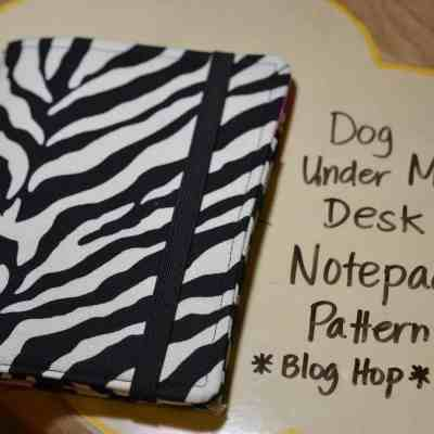 Zebra Print List Making: A Dog Under My Desk Pattern