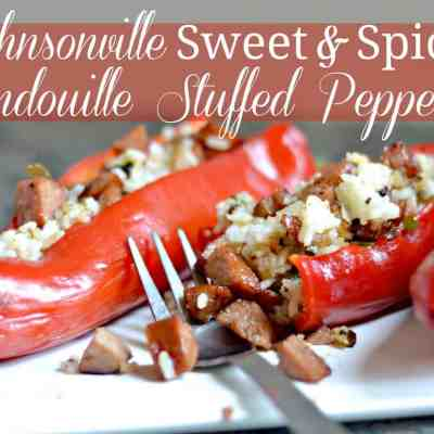 Johnsonville Sweet & Spicy Andouille Stuffed Peppers