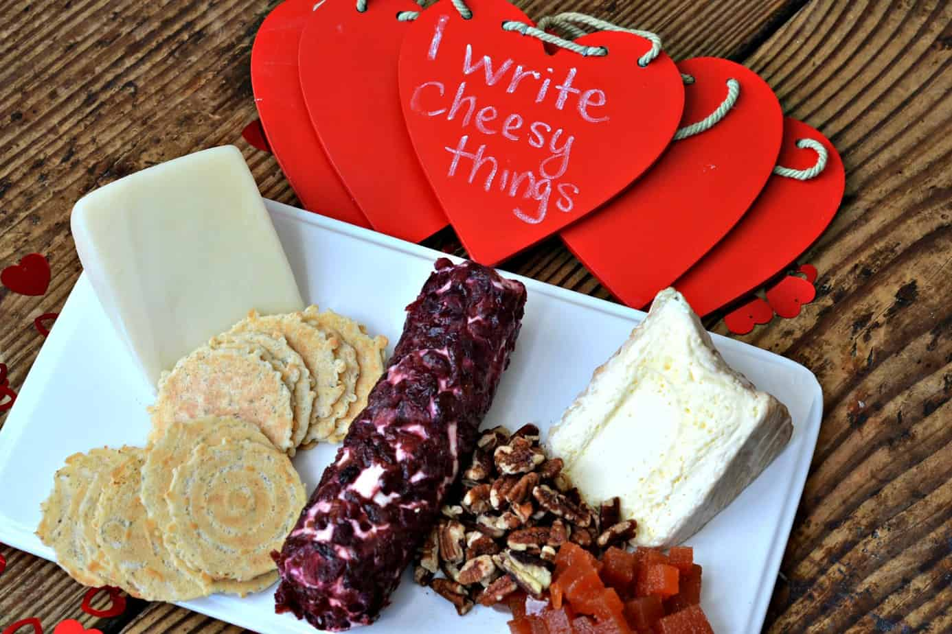 Valentine's Day Dinner Cheese Platter