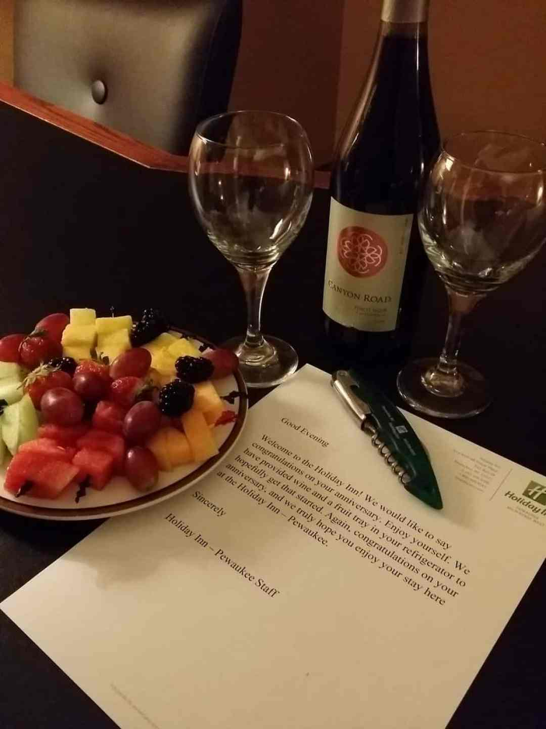 Holiday Inn Pewaukee Anniversary Surprise