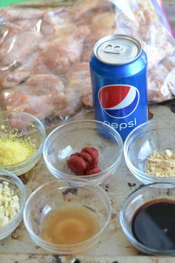 Pepsi Glazed Wing Ingredients