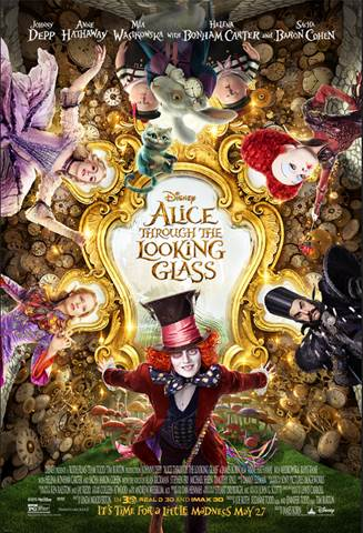 Alice Through the Looking Glass in theaters 5/27