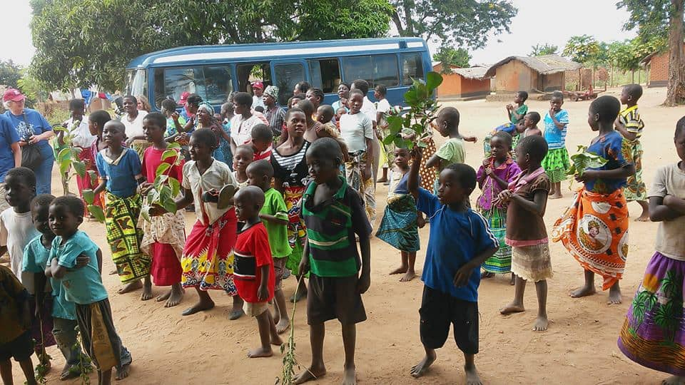 Children dancing in Malawi