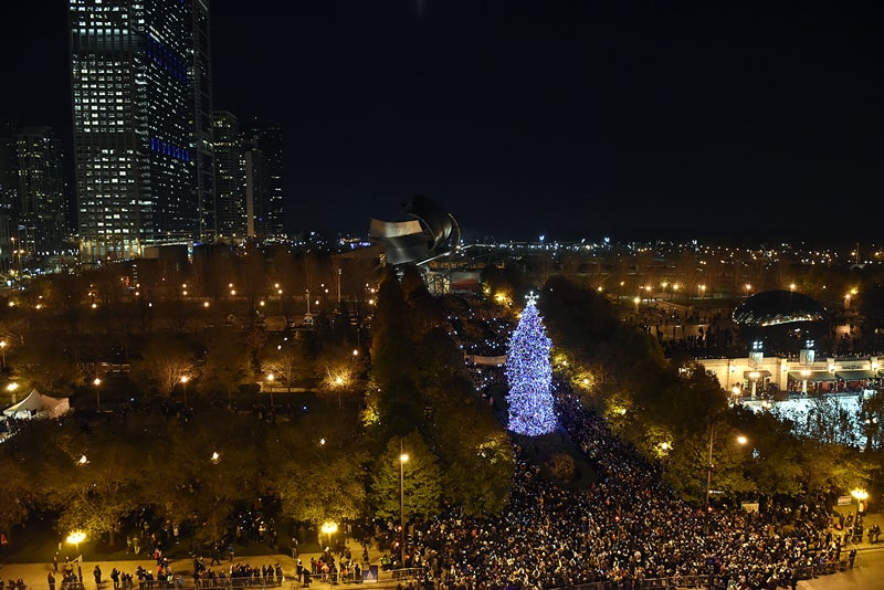 Chicago's 103rd Christmas Tree Lighting Ceremony