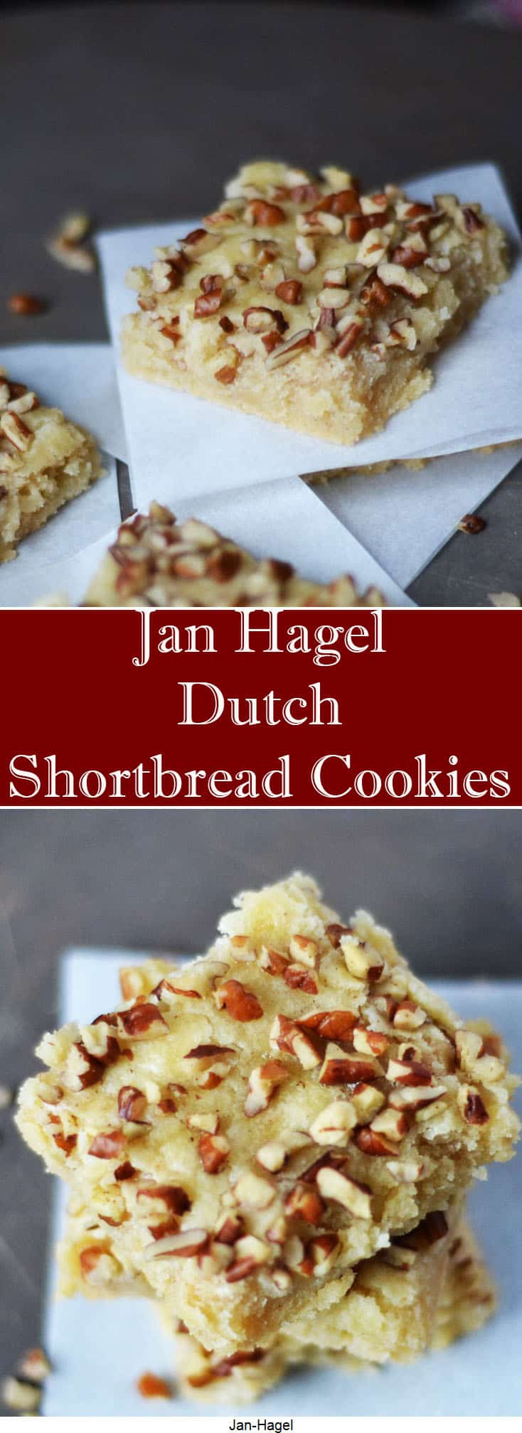 Jan Hagel Dutch Shortbread - a buttery cookie perfect for cookie exchanges for the holidays #HousefulOfCookies