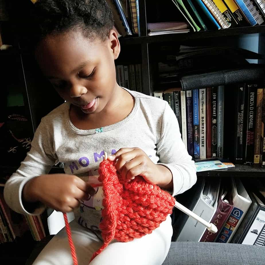 Learning to Knit With JoAnn Fabric