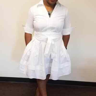 OOTD: eShakti White Shirtdress