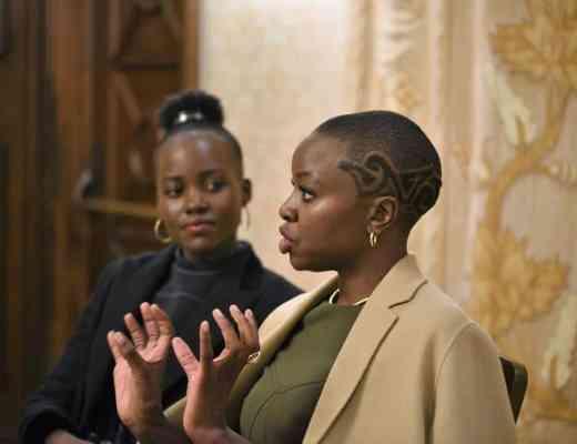 Black Panther's Danai Gurira and Lupita Nyong'o