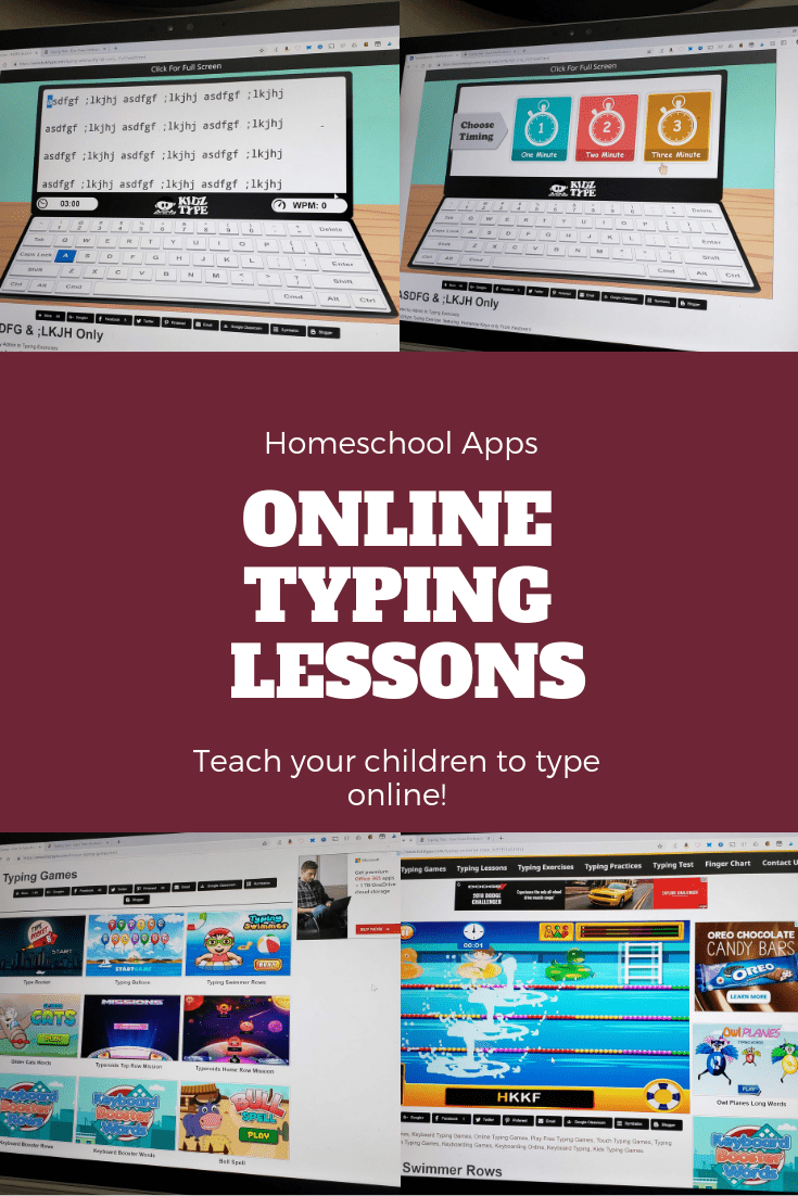 Teach your children to type online with Kidz Type online typing program.