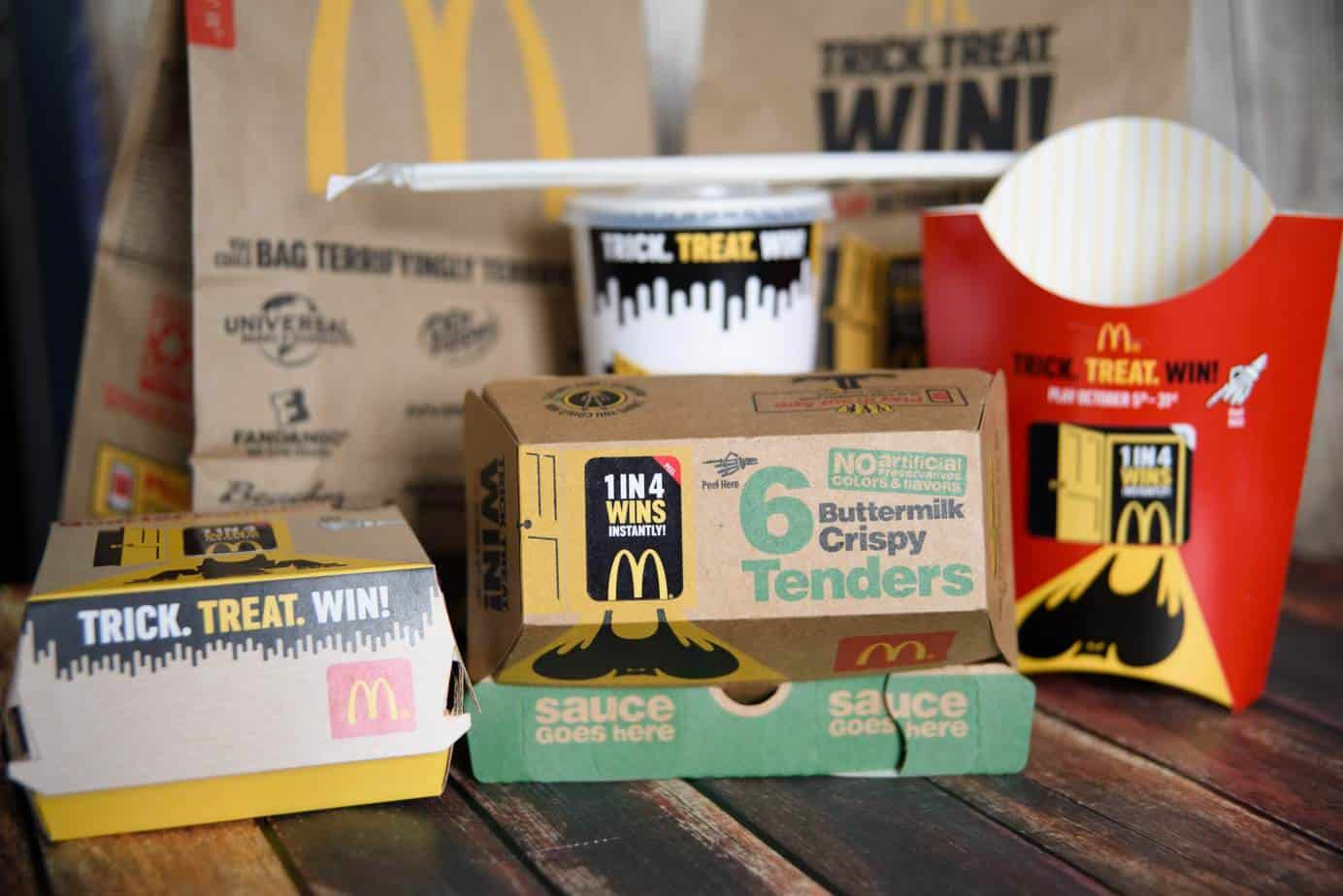From October 5 - 31, play Trick. Treat. Win! at your local McDonald's to win prizes instantly!