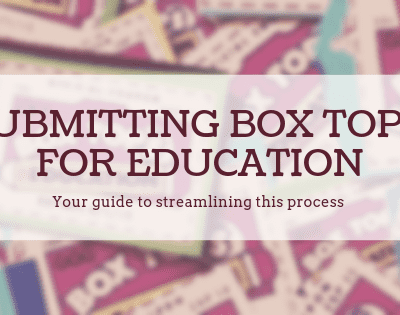 Submission Process for Box Tops for Education