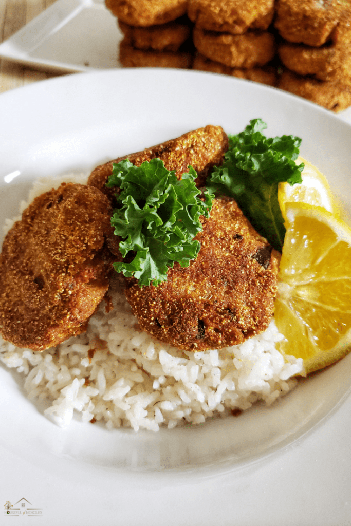 These easy to make salmon croquettes will be the hit of breakfast, lunch, brunch, or dinner. Paired with rice or grits - they're sure to be a regular in your household.