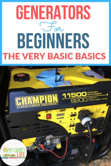 Homestead Blog Hop Feature - Generators-for-Beginners