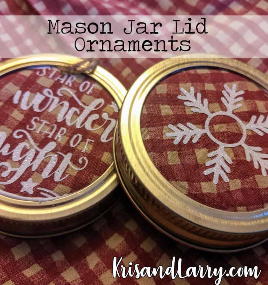 Homestead Blog Hop Feature - Mason Jar Lid Ornaments by KrisandLarry.com