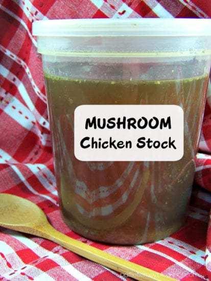 Homestead Blog Hop Feature - DIY Mushroom Chicken Stock