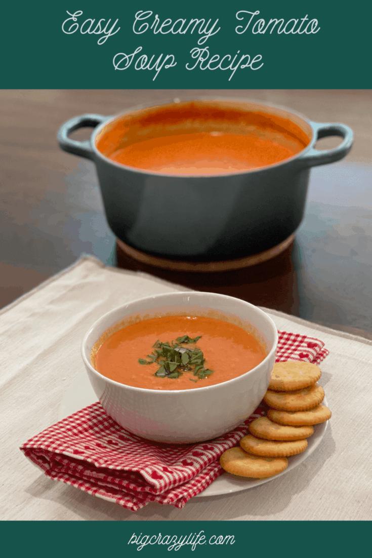 Easy creamy tomato soup | BigCrazyLife