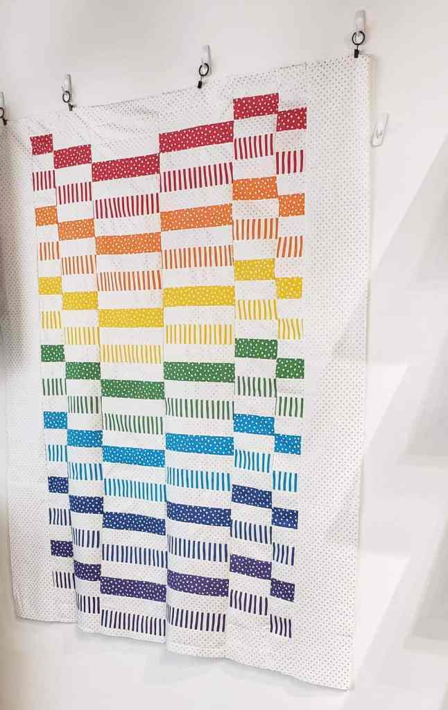 Staggered Quilt in rainbow colorway