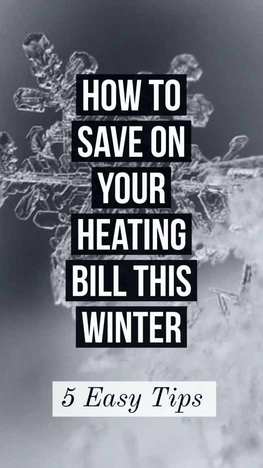 save on your heating bill this winter