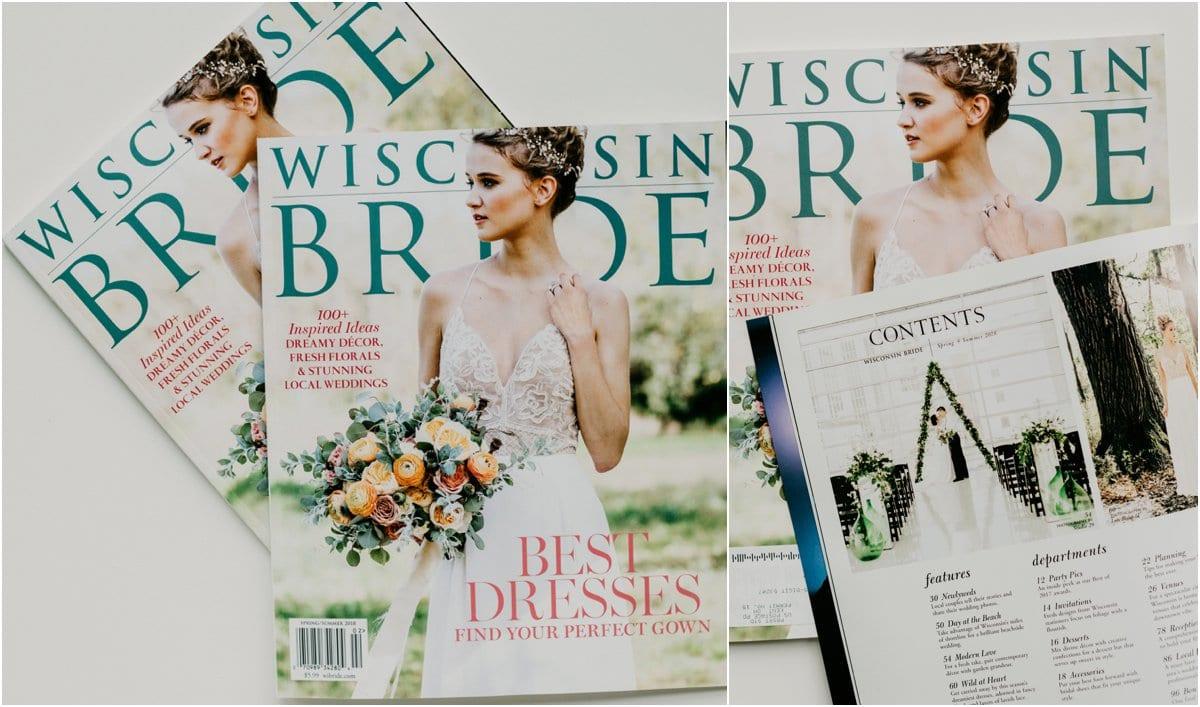 Wisconsin bride magazine wedding photographer