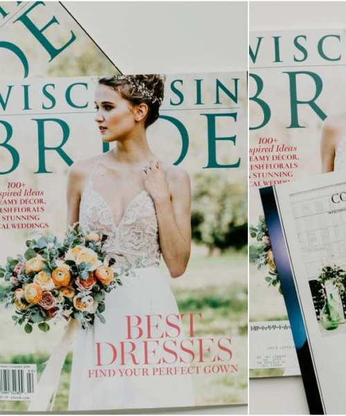 Wisconsin bride magazine wedding photographer