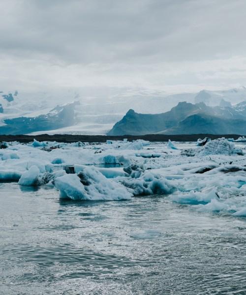 Jökulsárlón is a large glacial lake