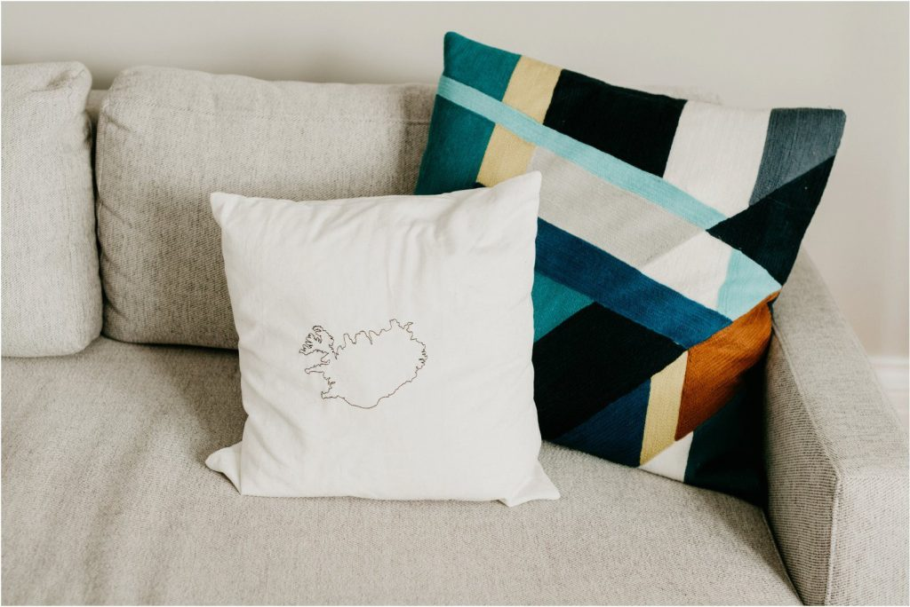 west elm geometric pillow