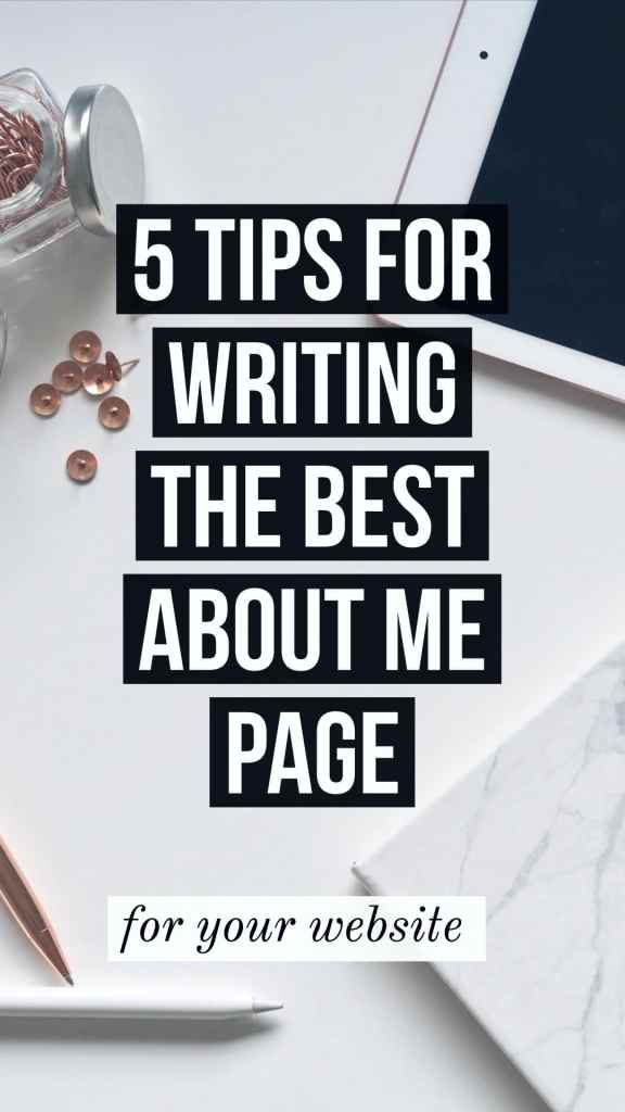 tips for writing the best about me page