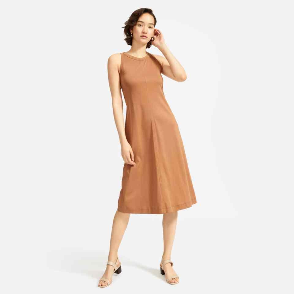 luxe midi tank dress