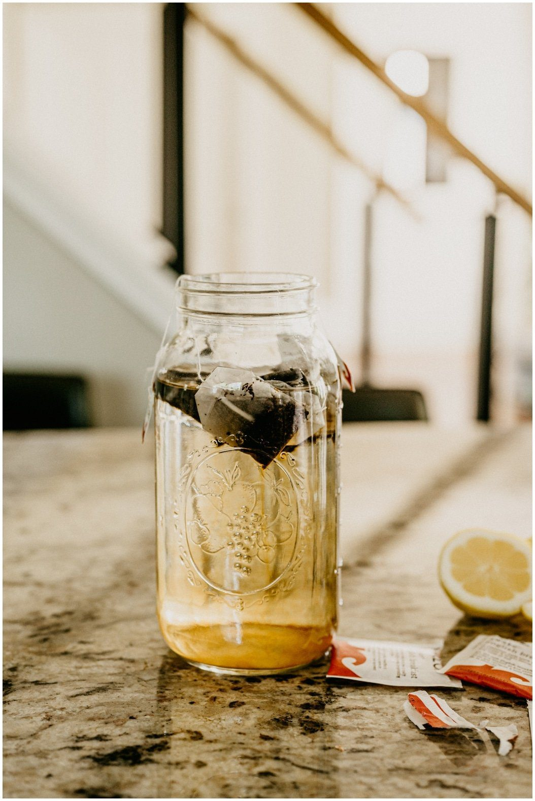 easy lemon sun tea