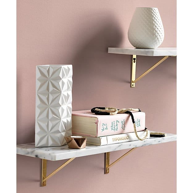 cb2 marble shelf