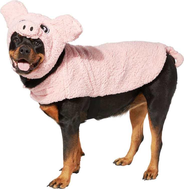 pink pig dog costume