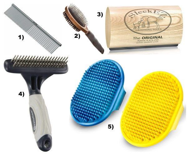 dog grooming tools brushes